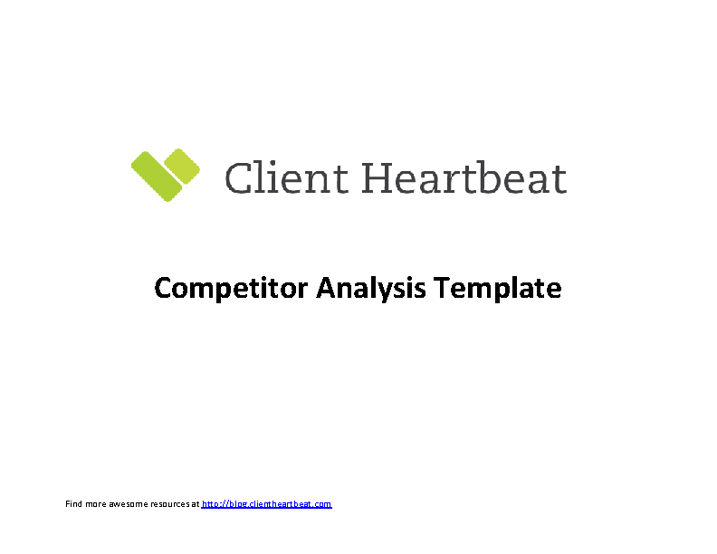 Competitive Customer Analysis Template