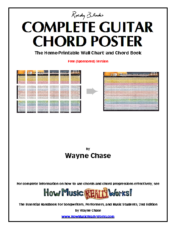 Complete Guitar Chord Chart Template