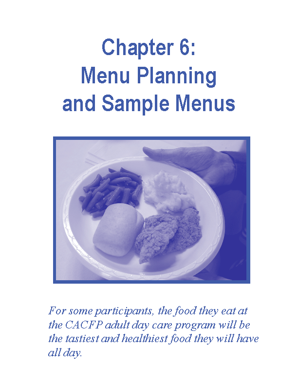 Complex Menu Planning And Sample