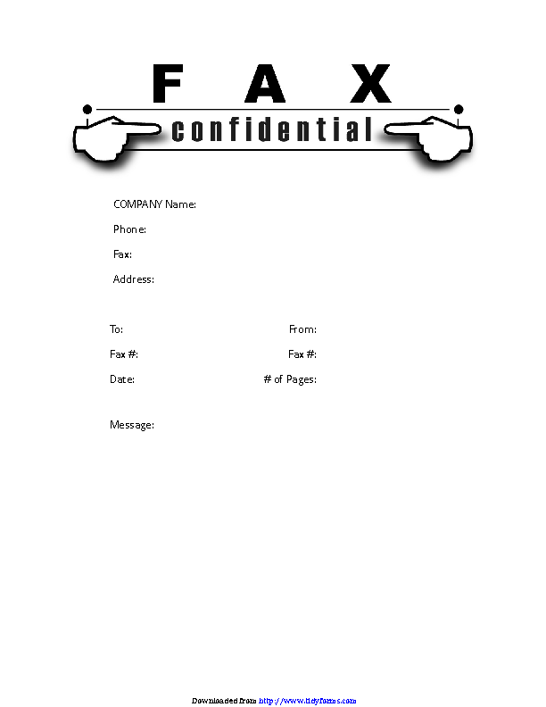 Confidential Fax Cover Sheet 1