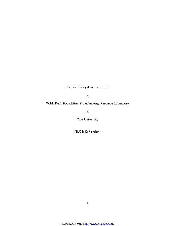 Confidentiality Agreement Template 1