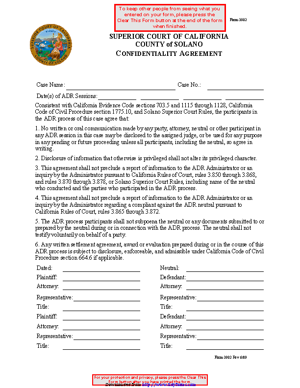 Confidentiality Agreement Template 2