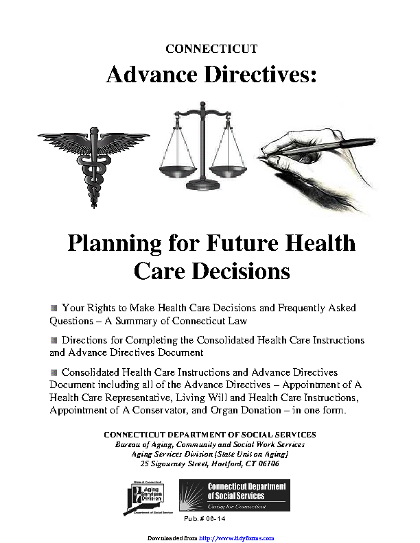 Connecticut Advance Health Care Directive Form 3