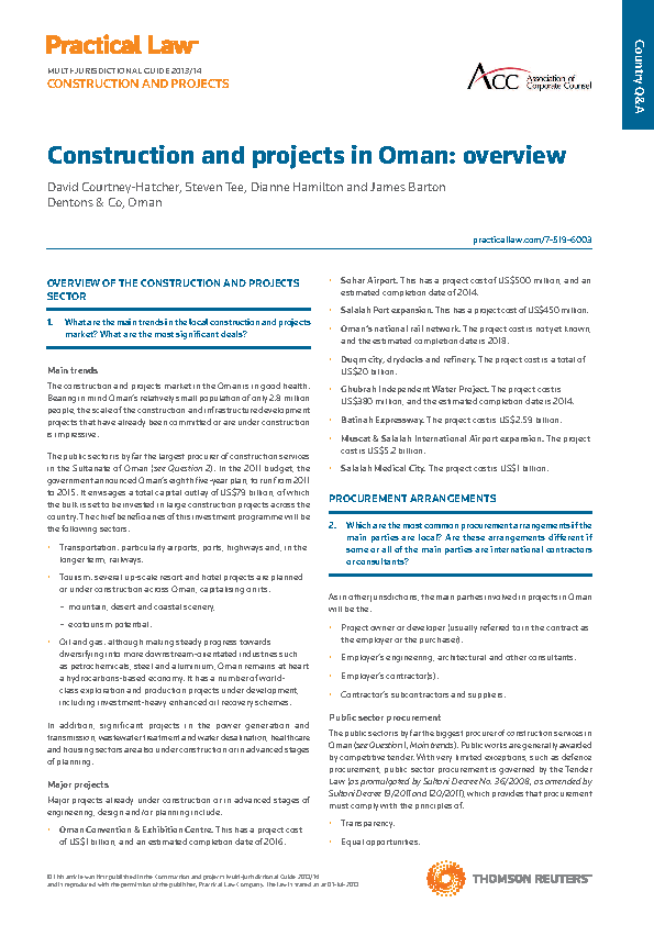 Construction Project Overview Template