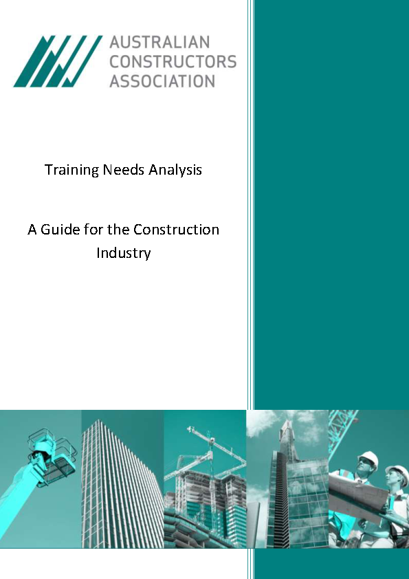 Construction Training Needs Analysis Template