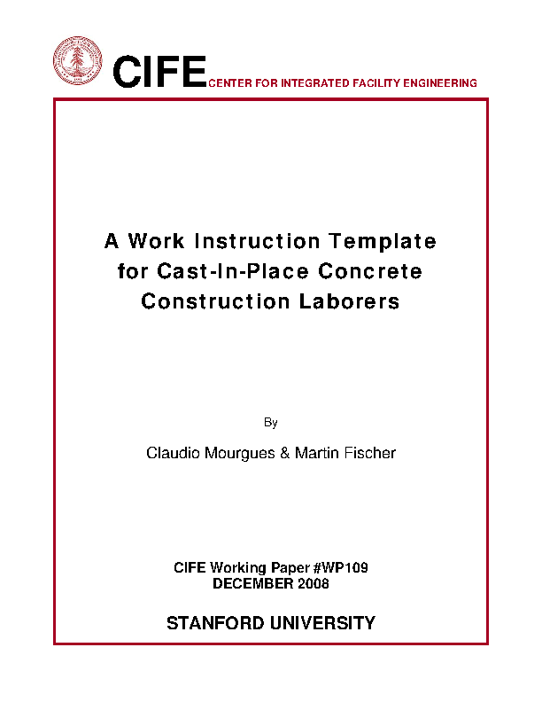 Construction Working Instruction Template