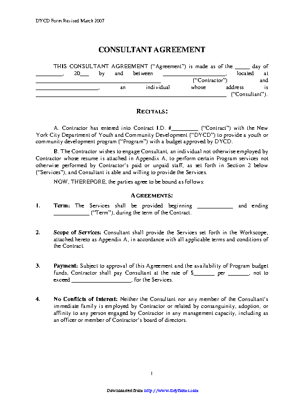 Consultant Agreement 1