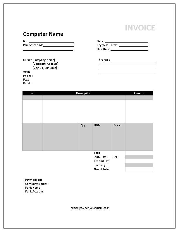 Consultant Invoice Template2