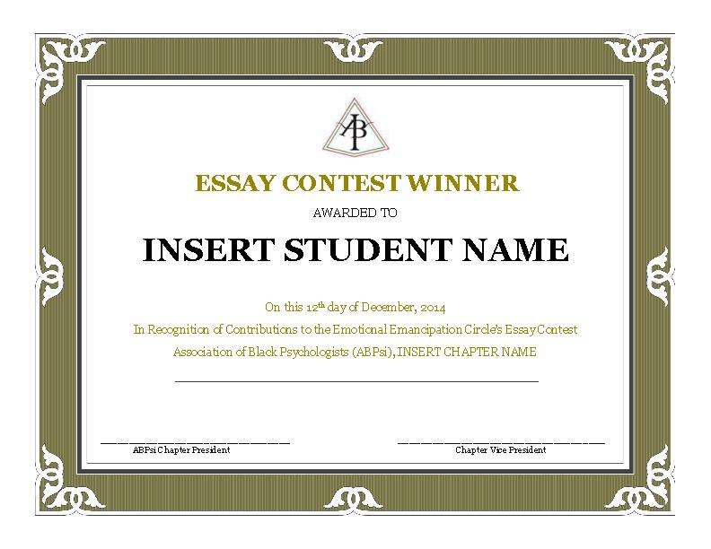 Contest Winner Certificate Template Pdfsimpli