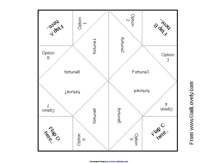 photo regarding Printable Cootie Catcher Template referred to as Cootie Catcher Template 1 - PDFSimpli