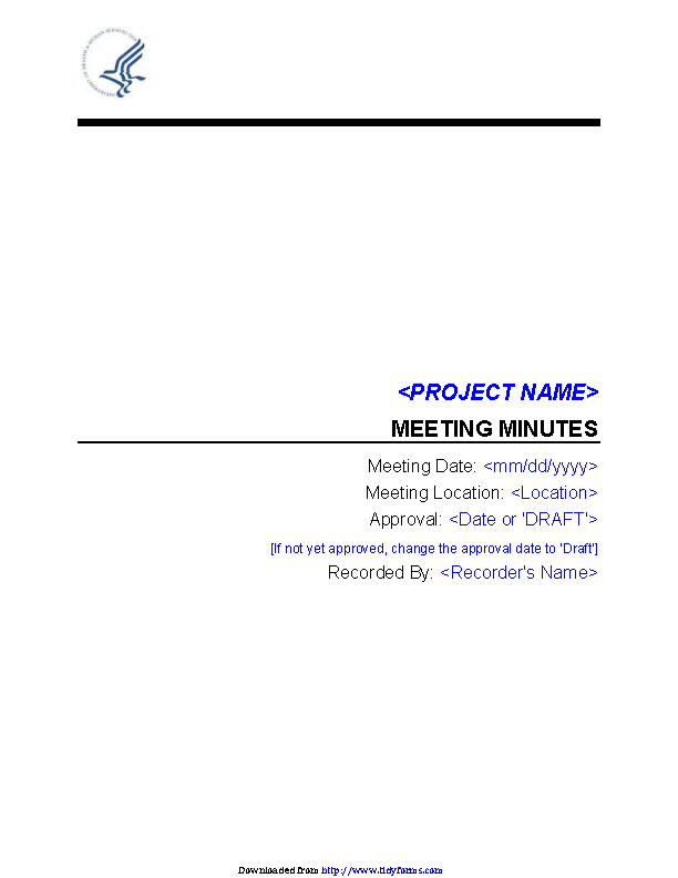 Corporate Minutes Template Word