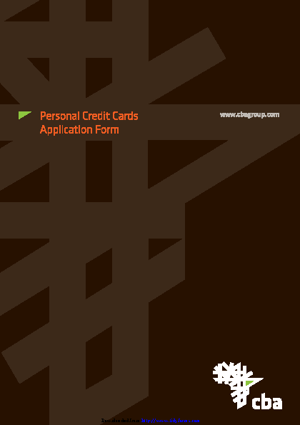 Credit Card Application Template 1