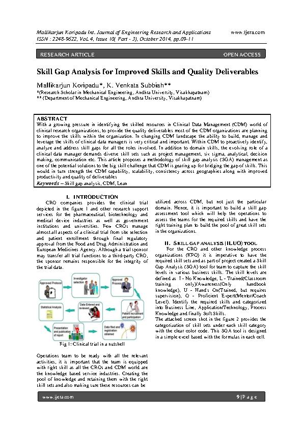 Critical Skill Gap Analysis Sample