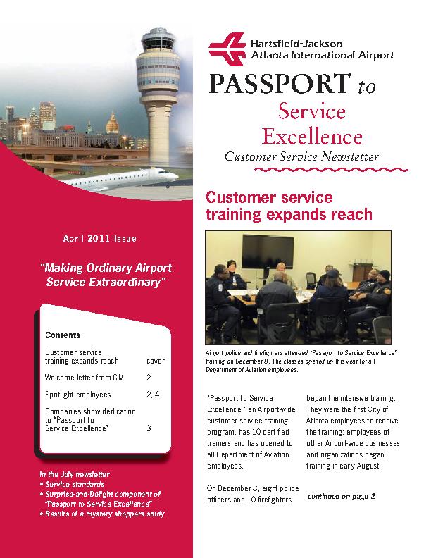 Customer Service Newsletter