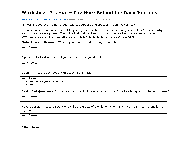 Daily Journal Template Microsoft Word