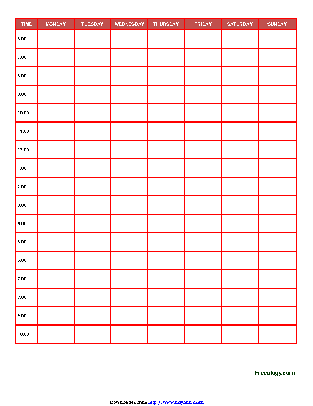 Daily Planner Template 3