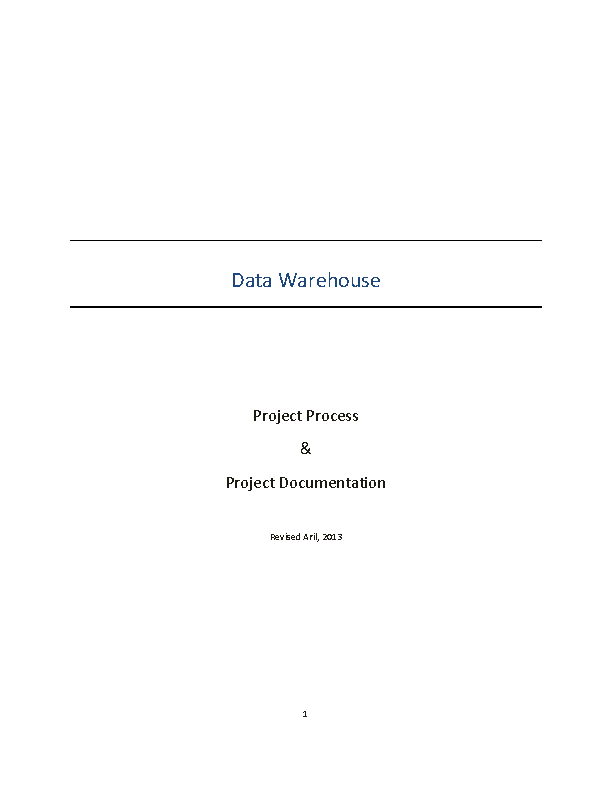 Data Ware Project Documentation Template