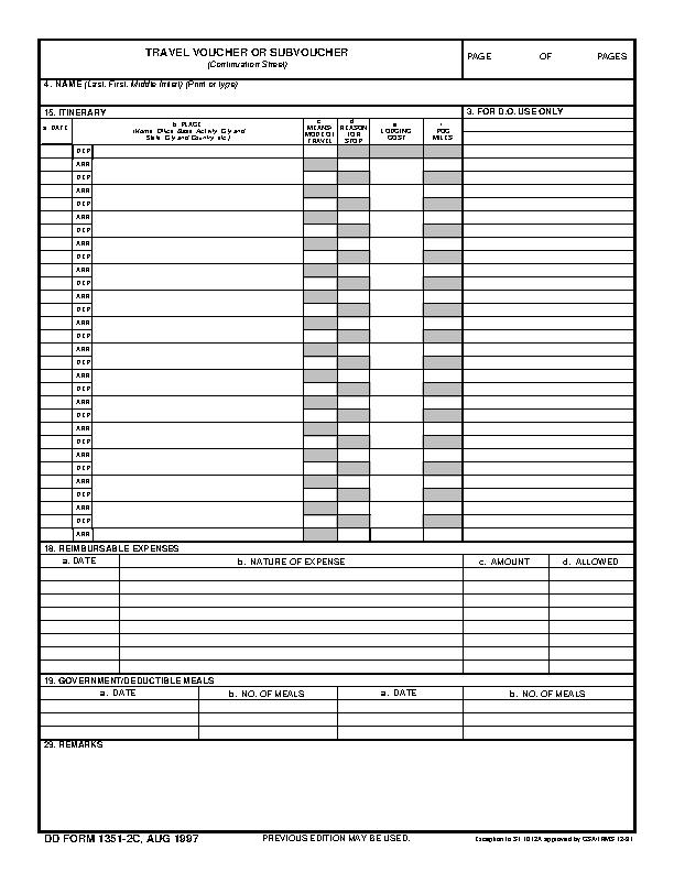 Dd Form 1351 2C