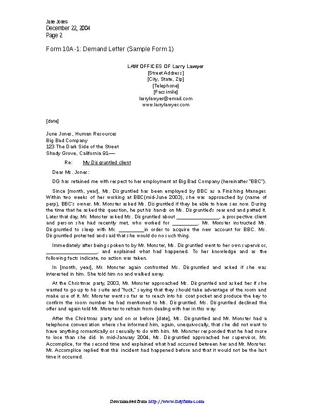 Demand Letter Sample 2