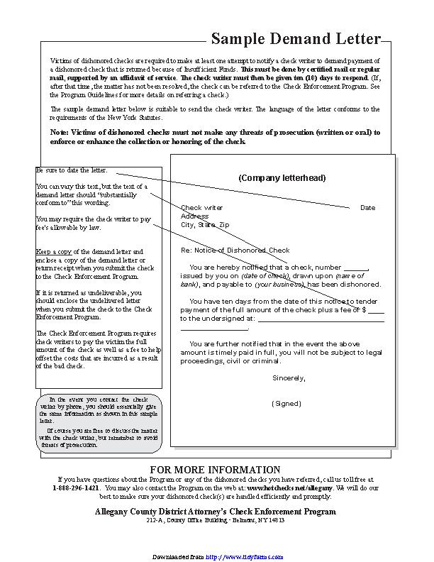 Demand Letter Sample 3