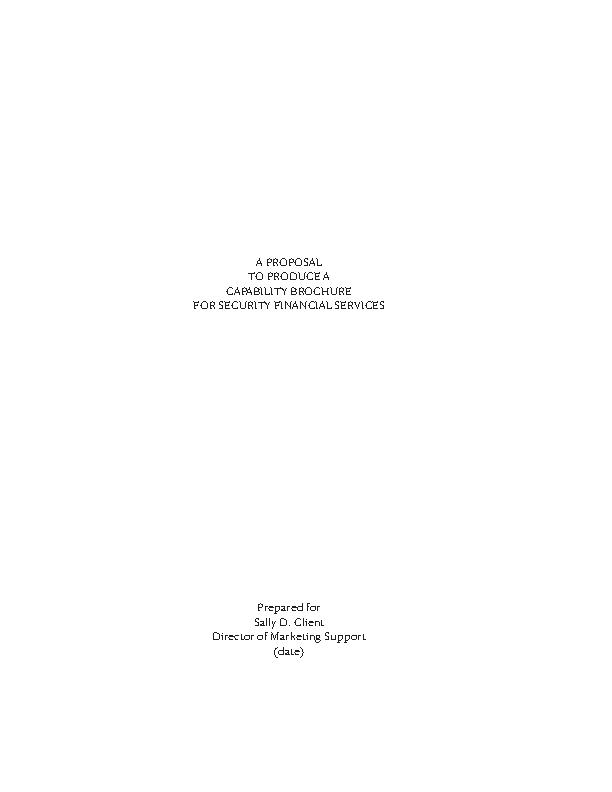 Detailed Proposal Sample