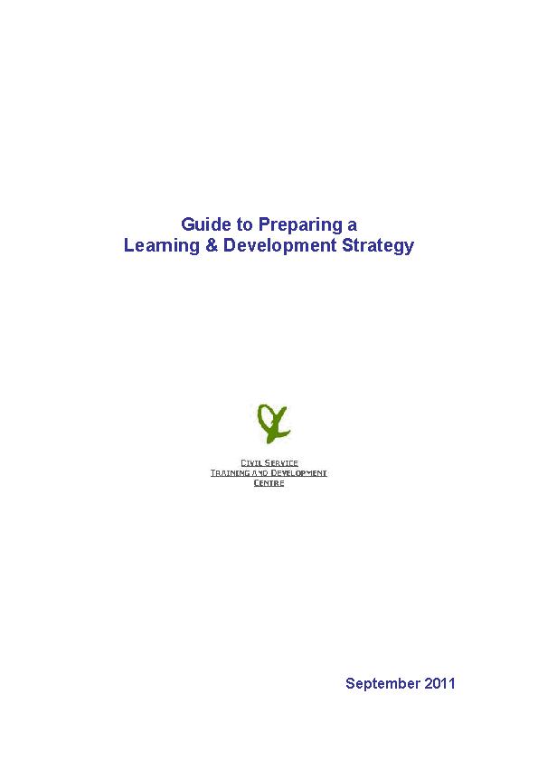 Development Training Strategy Pdf Format Template1
