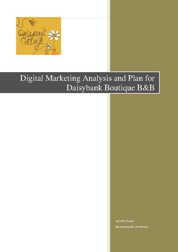 Digital Marketing Analysis Template