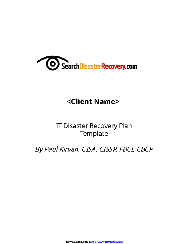 Disaster Recovery Plan Template 2