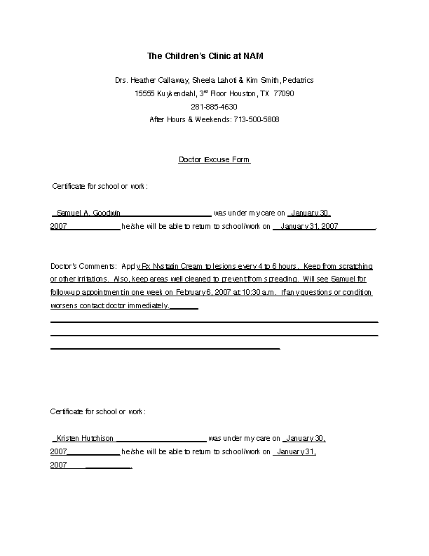 Dental Excuse Letter Template from devlegalsimpli.blob.core.windows.net