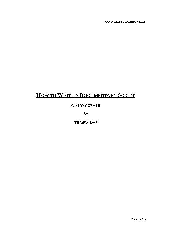 Documentary Script Template Word