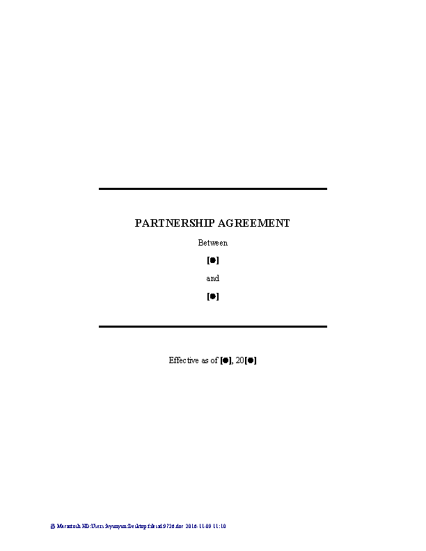 Domestic Partnership Contract Template