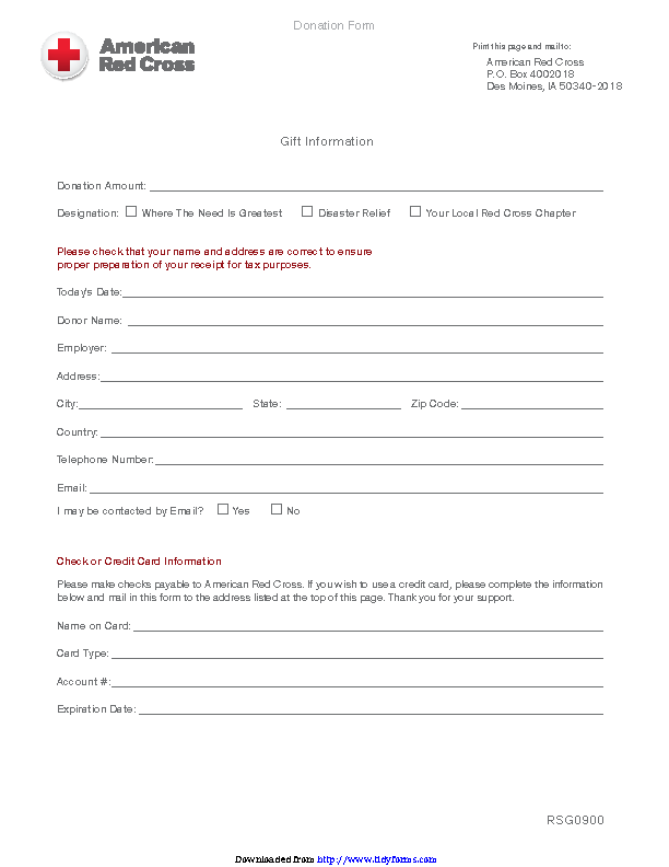 Donation Form 2