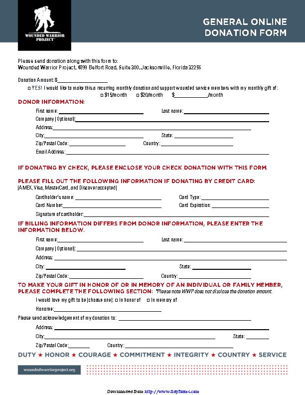 Donation Form 3