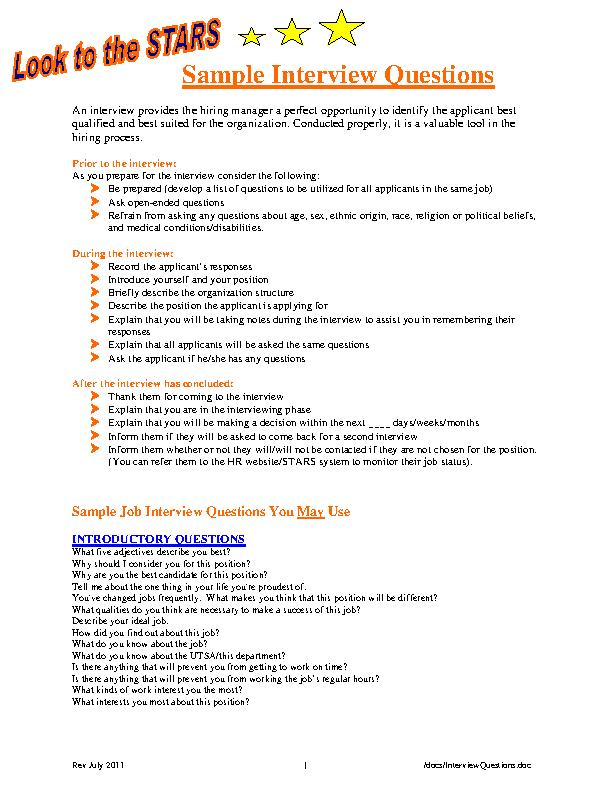Download Hr Interview Form