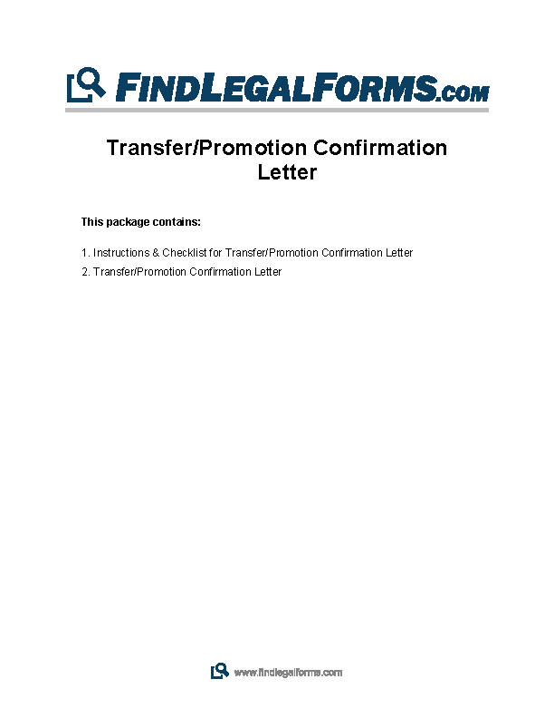 Download Transfer Confirmation Letter Template Pdf Sample