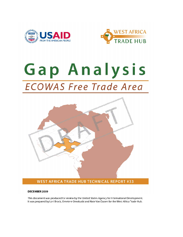 Ecowas Market Integration Gap Analysis
