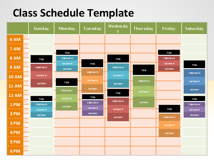 Editable Free Download Schedule Powerpoint Template
