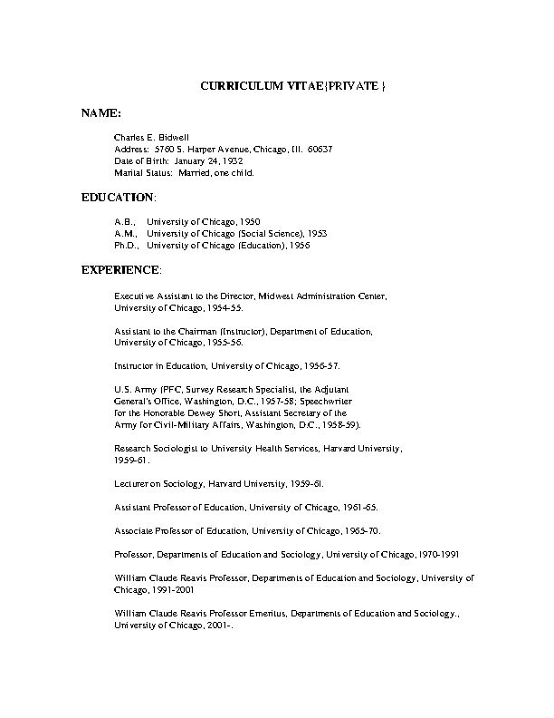 Educational Cv Template