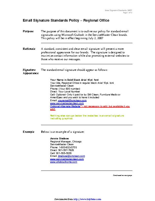 Email Signature Example 2