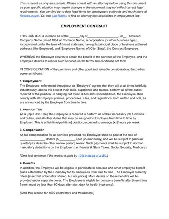 employee contract PDF
