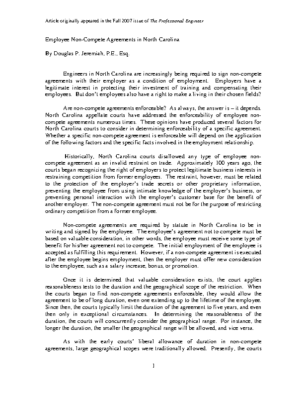 Employee Non Compete Agreement3