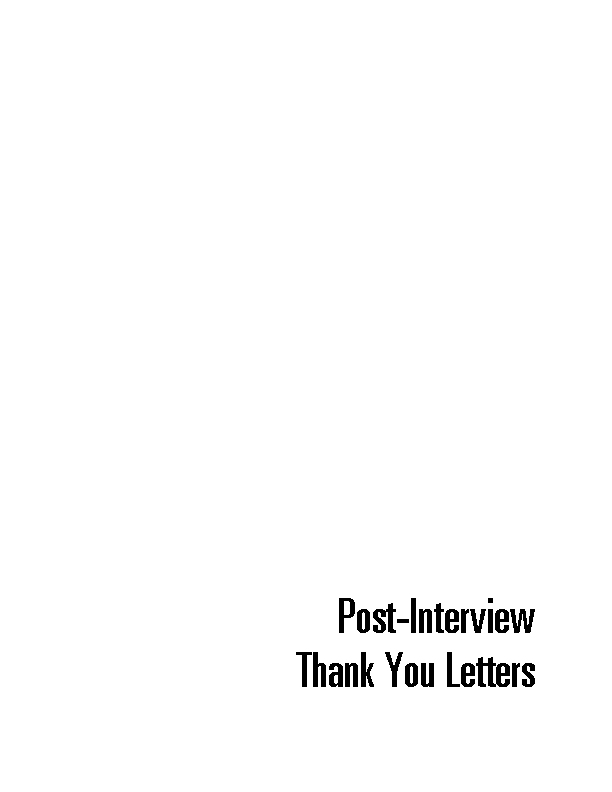 Employee Post Interview Thank You Letter Pdf Free Download