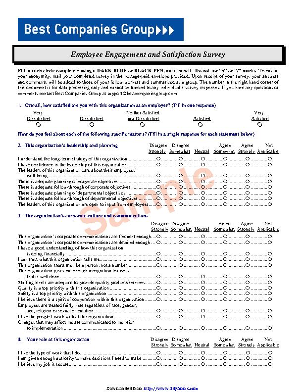 Employee Satisfaction Survey 2