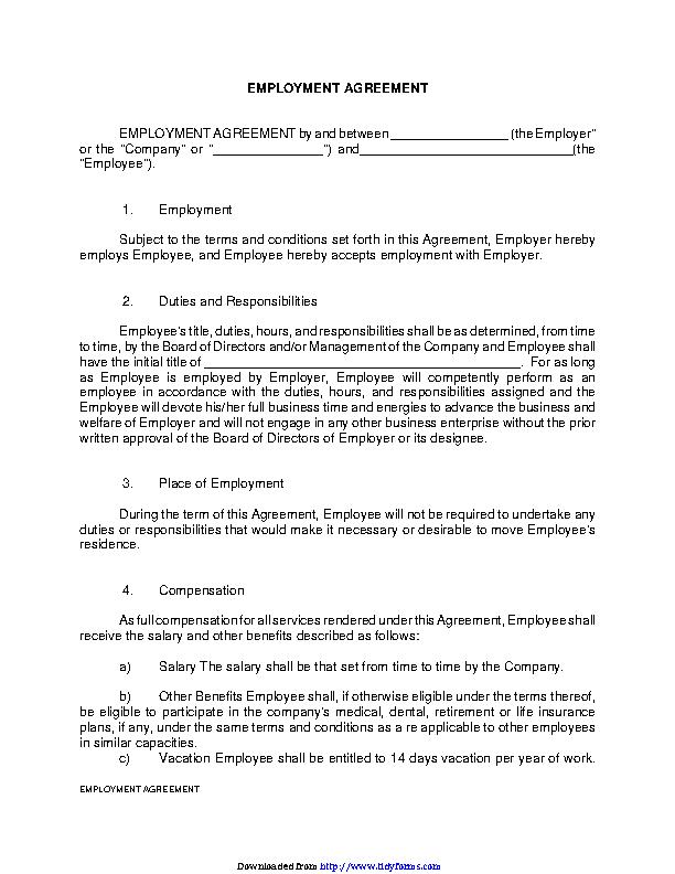 Employment Agreement 1