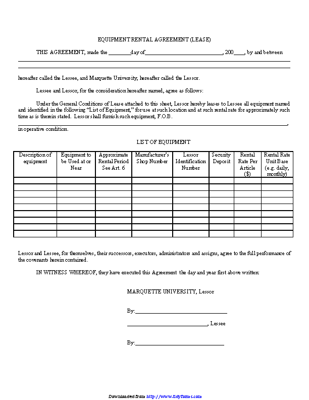 Equipment Lease Agreement 2