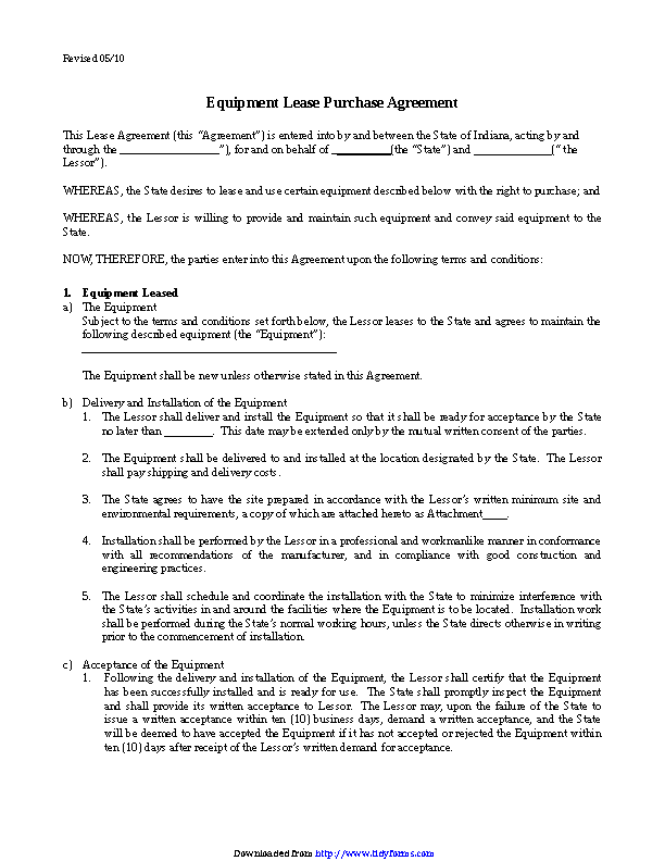 Equipment Lease Agreement 3