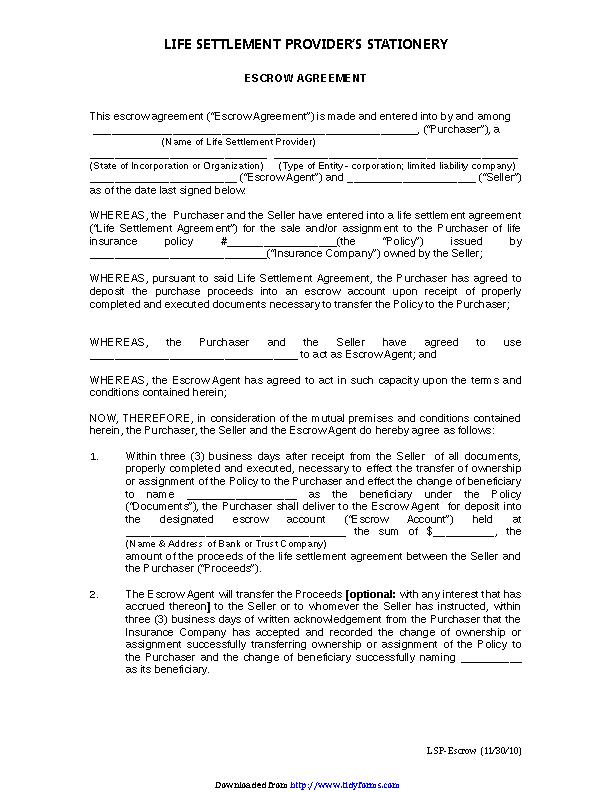 Escrow Agreement 2