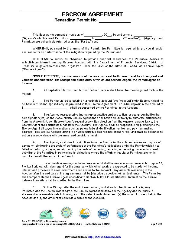 Escrow Agreement 3