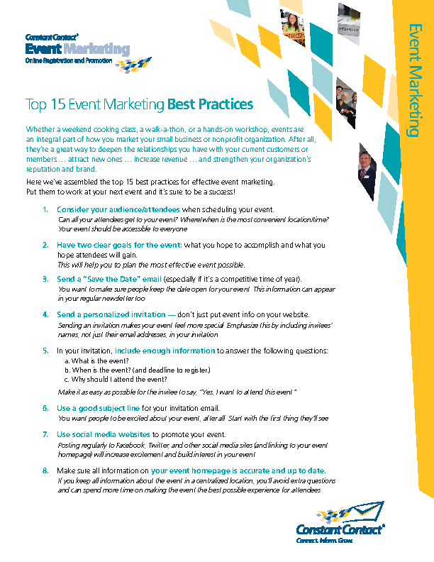 Event Marketing Practice Template