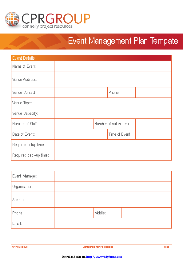 Event Planning Template 3